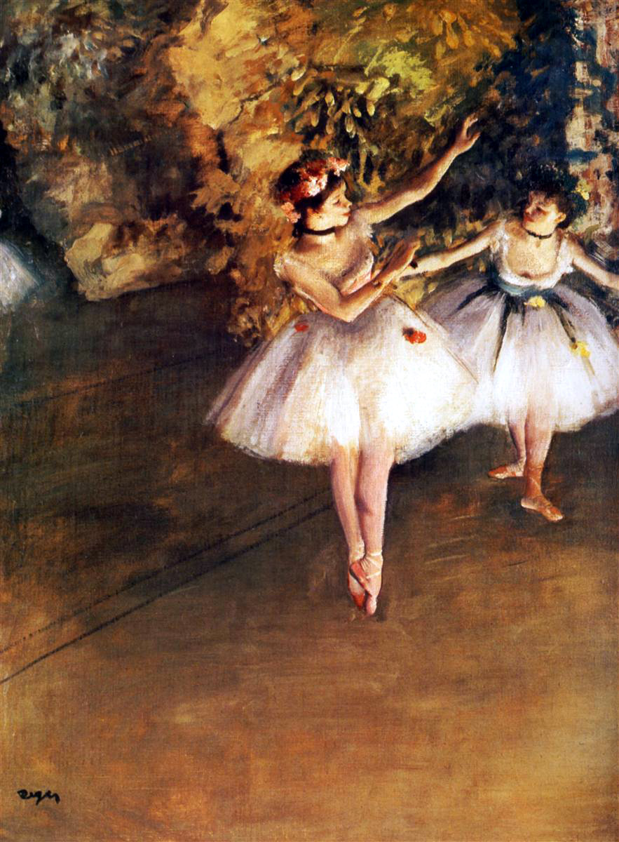 Two Dancers on the Stage by Edgar Degas, 1877