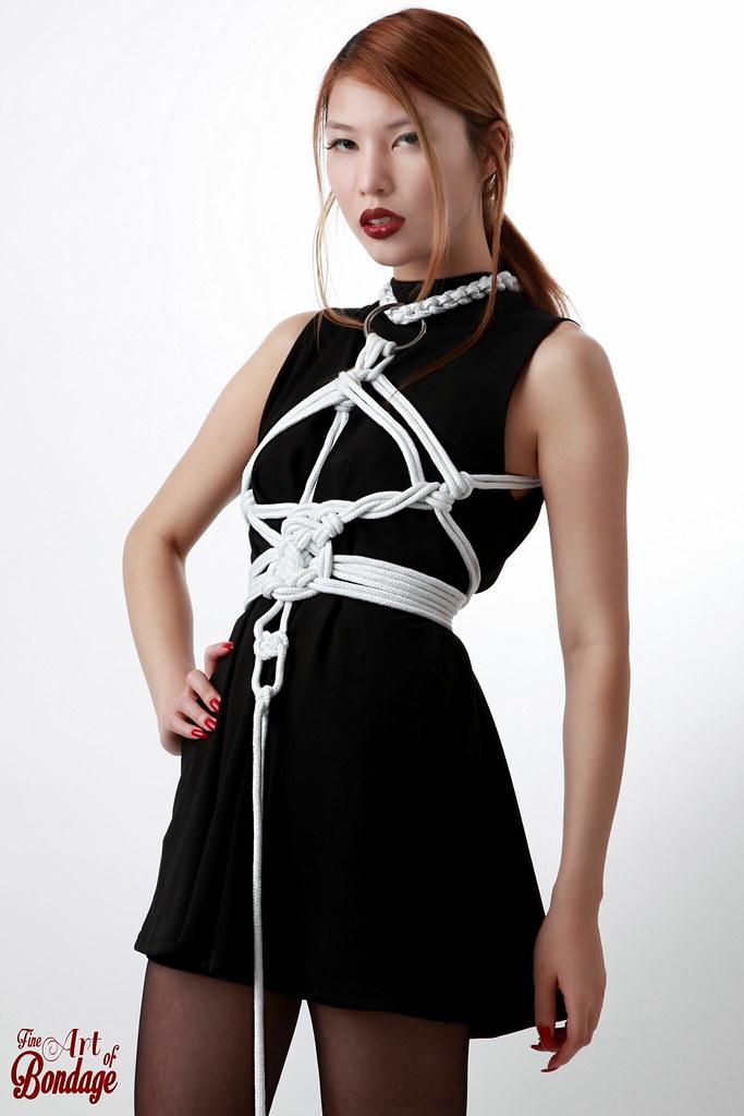 Fashion Style - Fine Art Of Bondage  Asian Model Tied -8317
