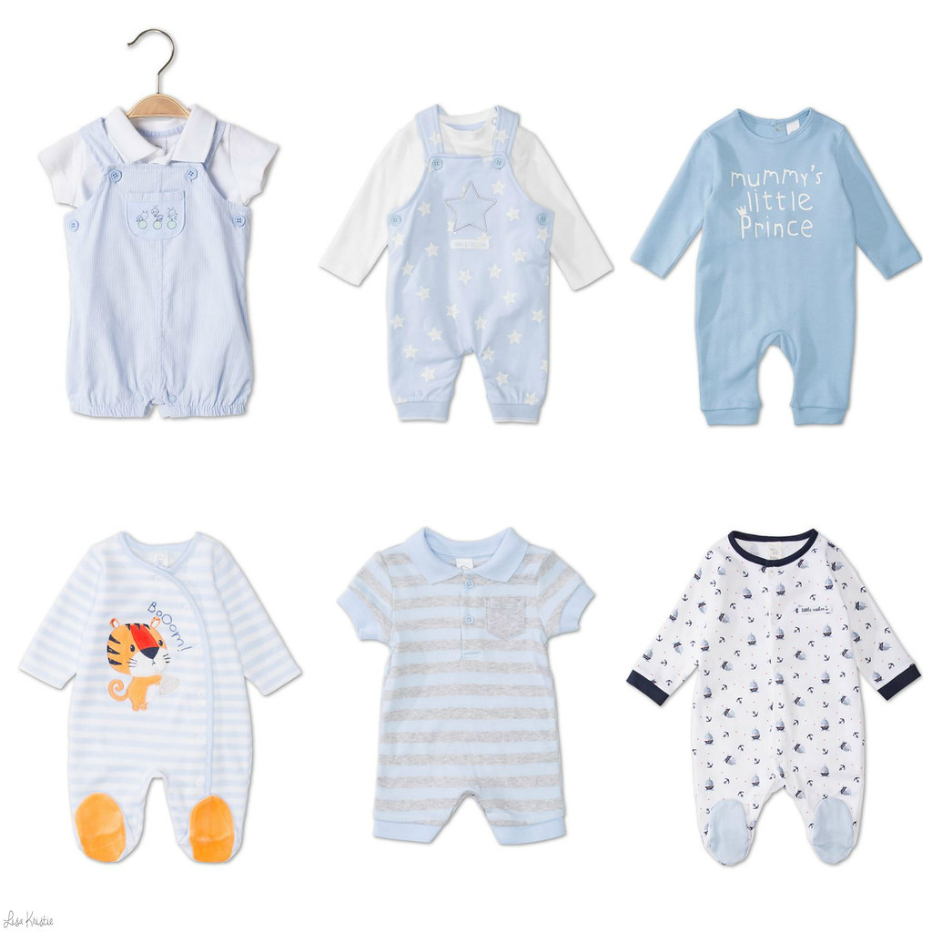 C&A baby boy clothes outfits onesies C and A cute adorable blue white pale pastel nautical anchors
