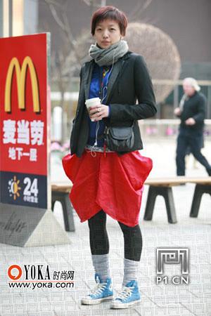 9 leg snapped a Beijing street mix