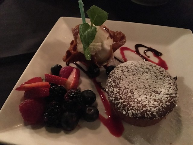 Warm chocolate molten cake - Spencer's Restaurant