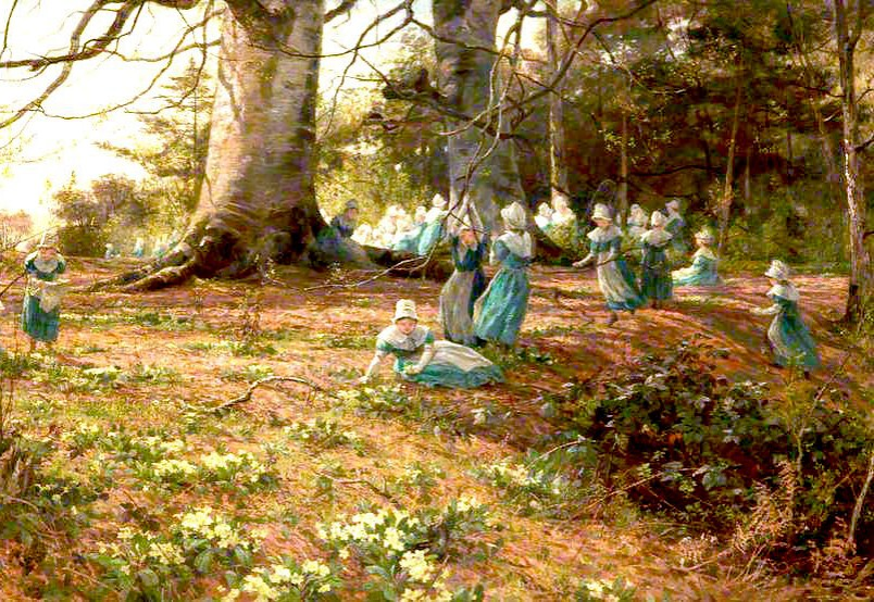 An Easter Holiday, the Children of Bloomsbury Parochial School in a Wood at Watford by James Aumonier, 1874.