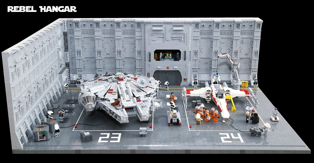 lego star wars rebel hangar 01 a rebel hangar inspired. Black Bedroom Furniture Sets. Home Design Ideas