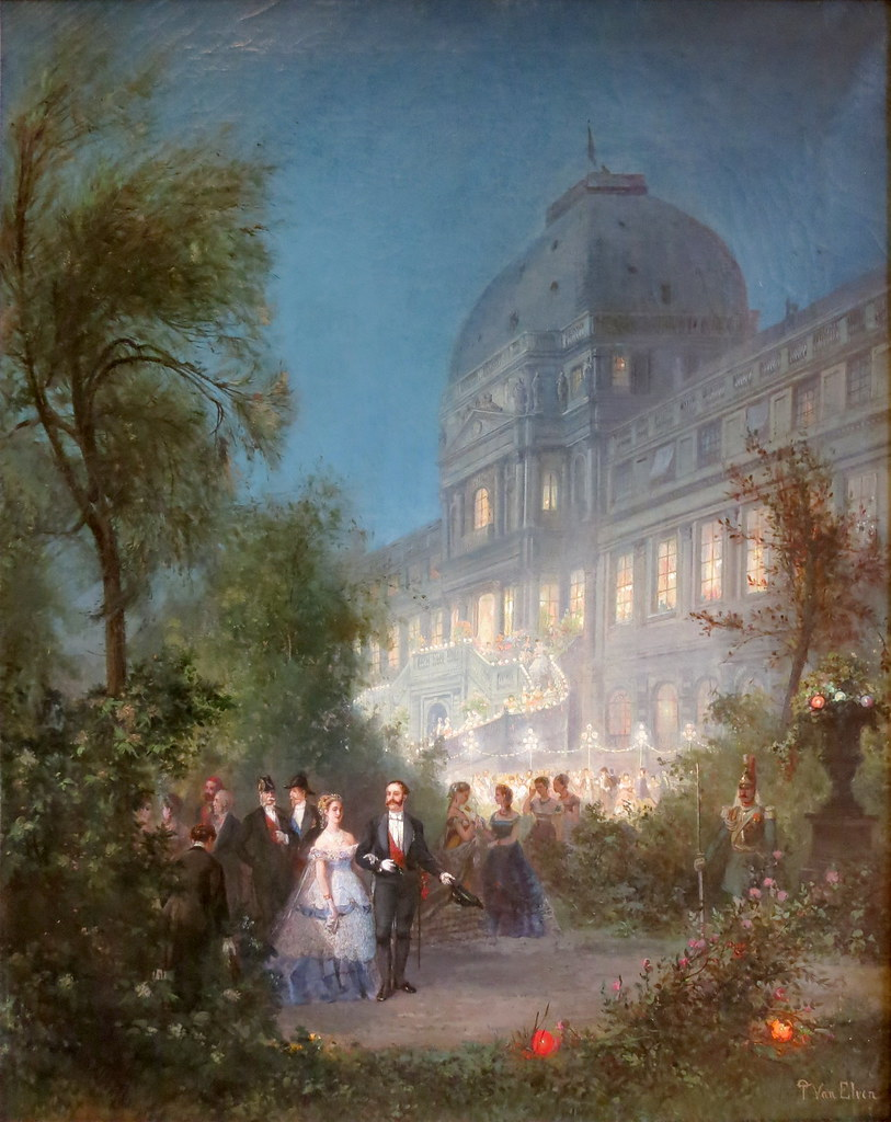 Party night at the Tuileries, June 10, 1867 by Pierre Tetar van Elven, 1867.