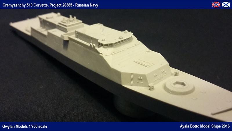 Corvette Russe Gremyashchy 510 Projet 20385 Gwylan Models 1/700 25035476869_f6c4a4f07a_c