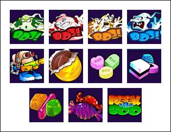 free Peek-a-Boo 5 Reels slot game symbols