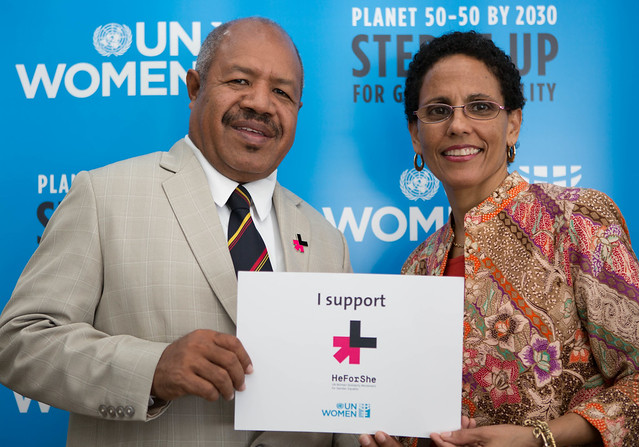 Papua New Guinea Governor Powes Parkop joins HeForShe to step up his commitment to turn the national capital district Port Moresby safe for women and girls