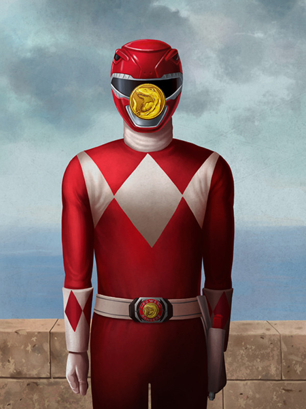 Magritte Power Rangers by Ben Chen