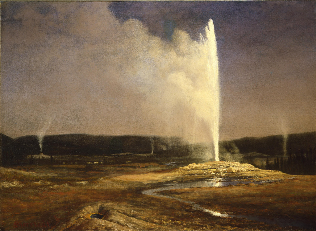Geysers in Yellowstone by Albert Bierstadt, 1881