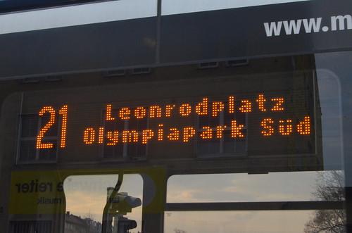 Zielbeschilderung Leonrodplatz und Olympiapark Süd (Bild: Leo Papic)