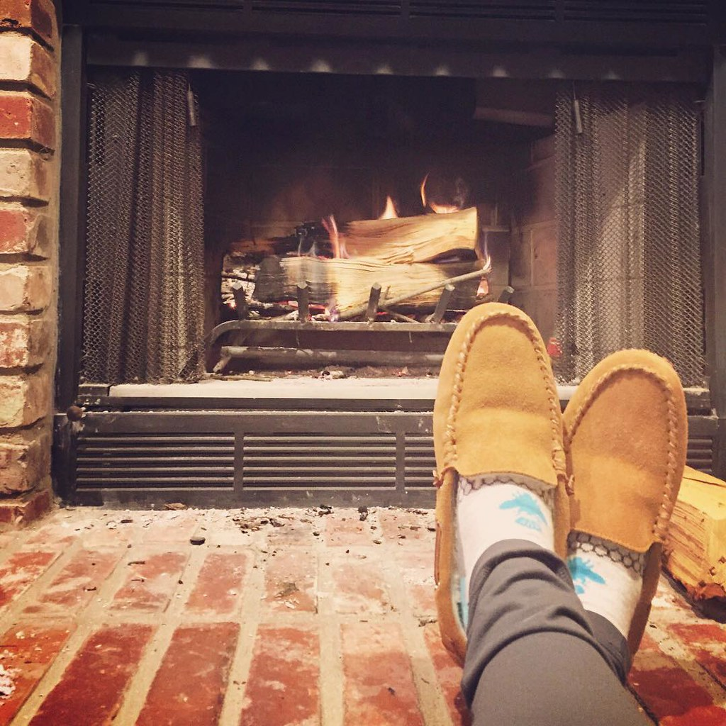 Wood-burning fireplace with gas starter: best home improve… | Flickr