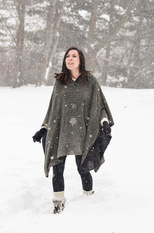 Evy's Tree Soshie Poncho in Snow | cookingalamel.com