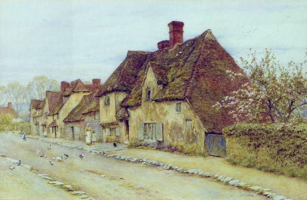 A Village Street by Helen Allingham