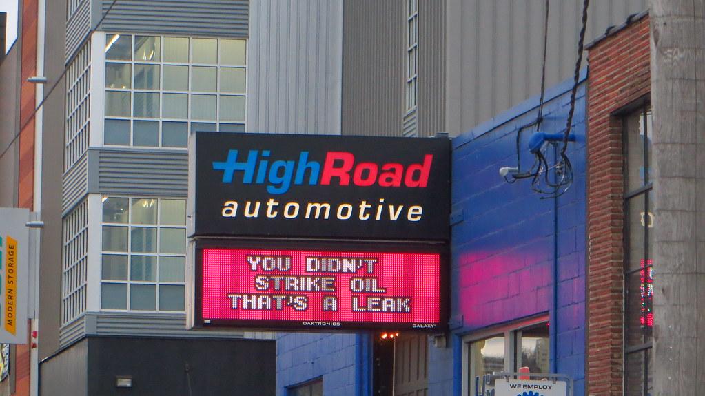 Mobile Auto Garage Signs : Funny sign auto repair shop you didn t strike oil tha