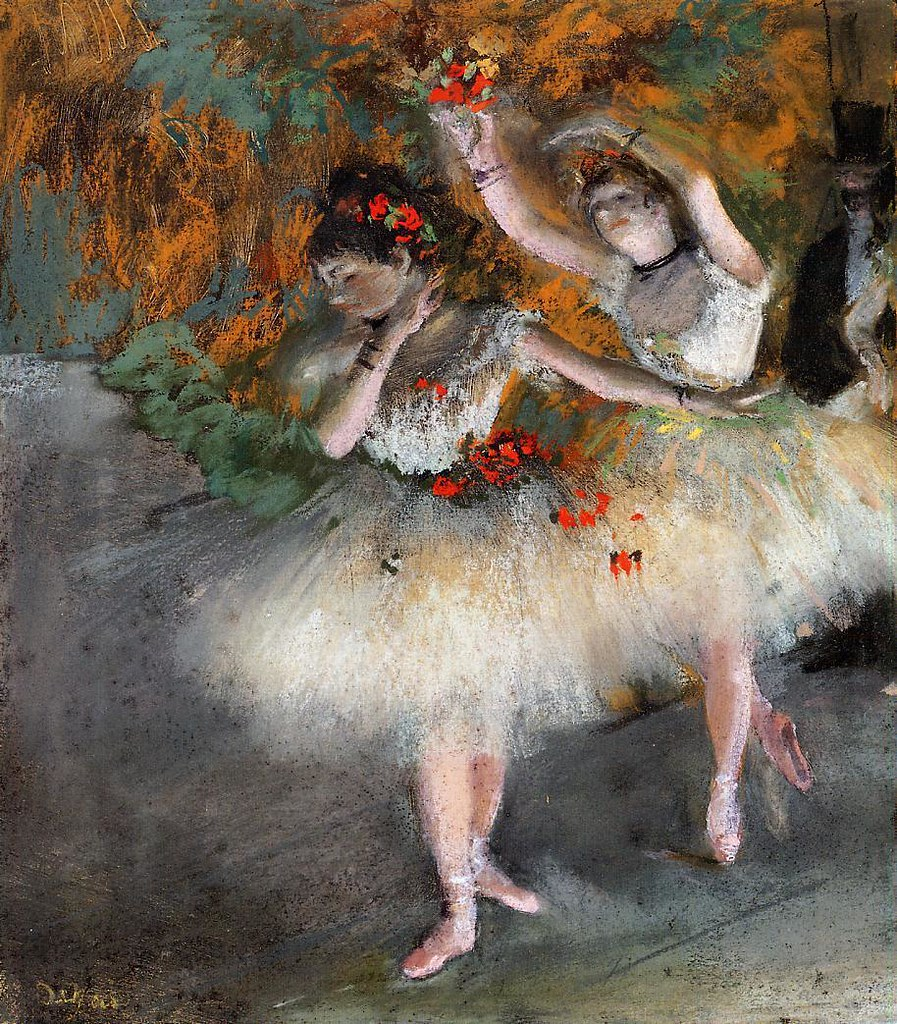 Two Dancers Entering the Stage by Edgar Degas, c.1878
