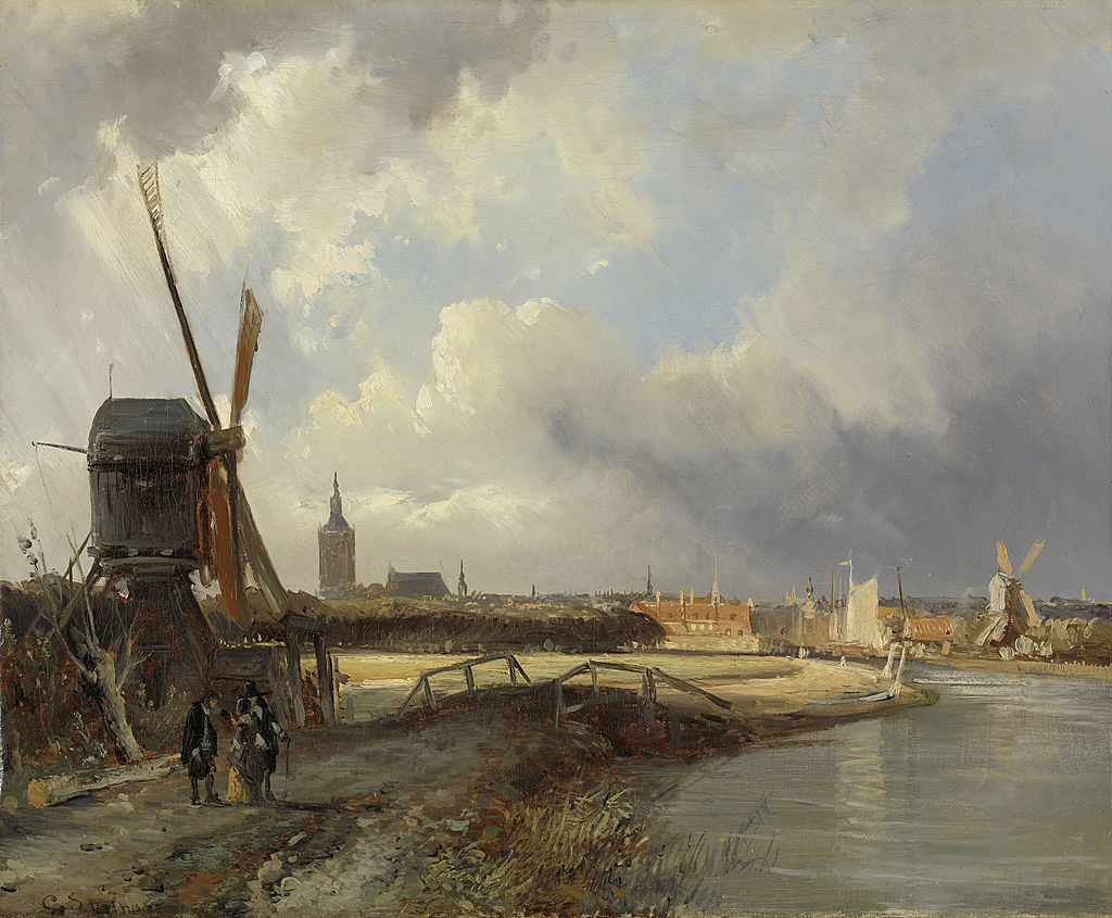 Study for View on Den Haag by Cornelis Springer