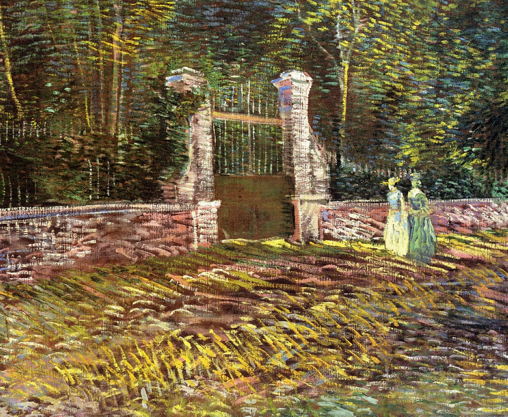 Entrance to the Voyer-d'Argenson Park at Asnieres by Vincent van Gogh, 1887