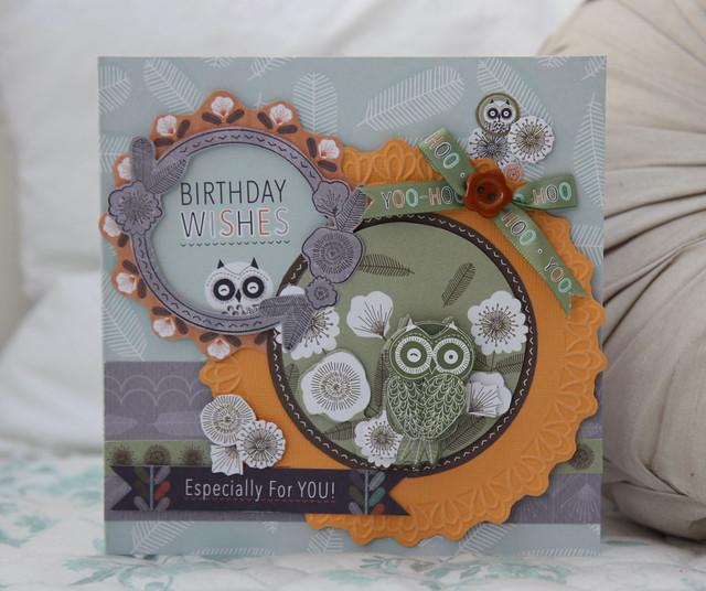 Birthday wishes Owl Folk card by StickerKitten