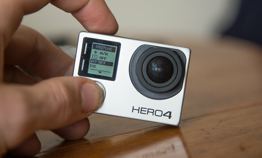 Changing the gopro camera settings for 360 filming. Turn protune on