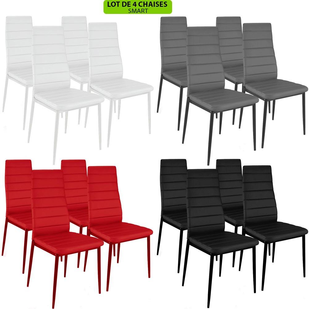 stuhl esszimmer salon design smart stil neue leder 4er. Black Bedroom Furniture Sets. Home Design Ideas