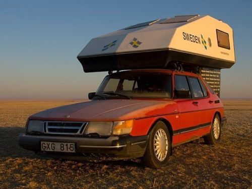 Original Saab 900 with Toppola Camper from Drimtrip