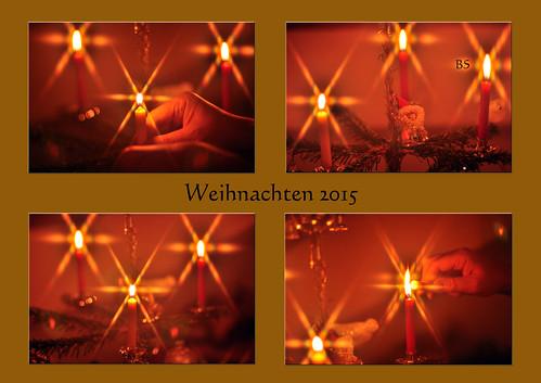 Weihnachten Karla Kunstwadl Bescherung Glöckchen Weihnachtsbaum Kerzen Gitterfilter Foto Brigitte Stolle Dezember 2015