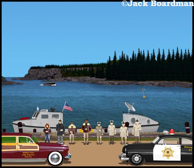 AJ arrived with Boomer's boat ©Jack Boardman