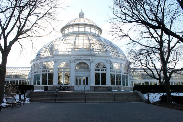 New York Botanical Garden Conservatory in Winter