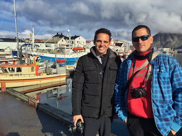 Sele e Isaac en Islas Lofoten (Laponia Noruega)