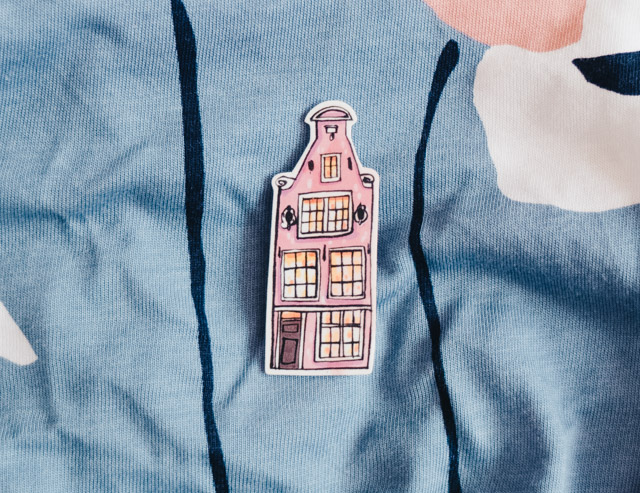 andsmile amsterdam house brooch
