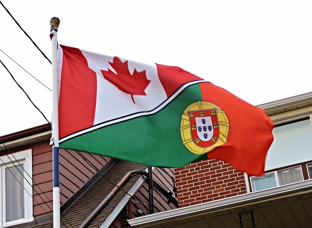 Image result for canada portugal flag