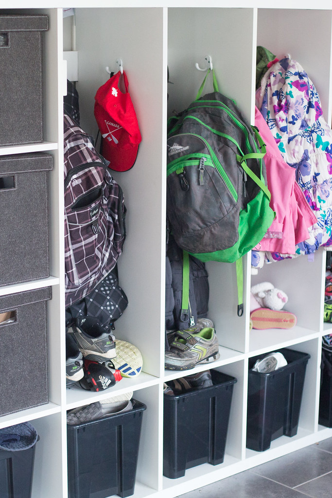 Lockers for kids backpacks and coats