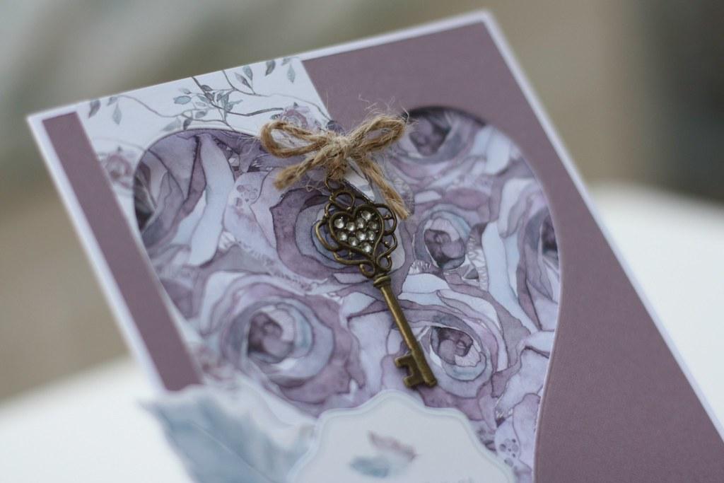 Bloom Beautiful card - New Home card by StickerKitten heart key closeup