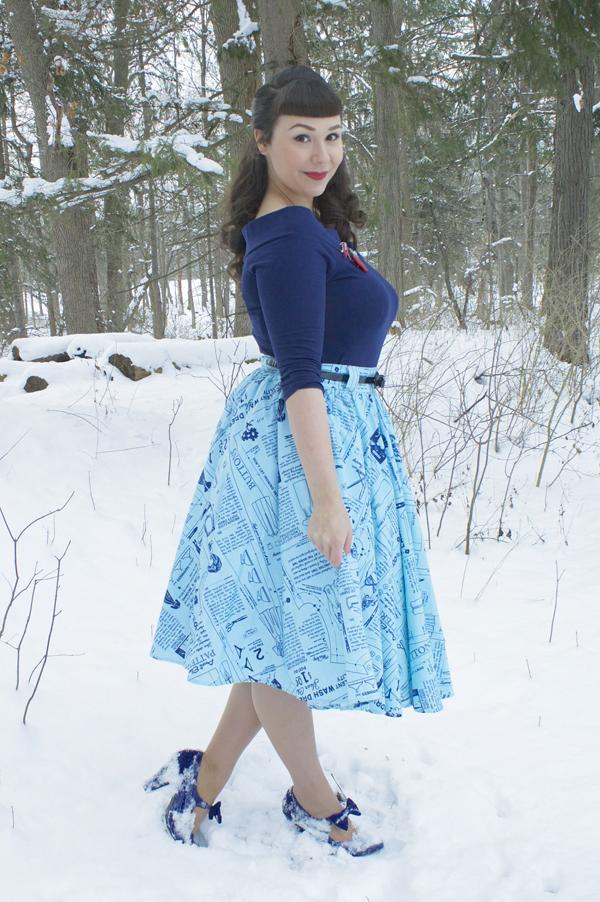 lil' lou lou vintage undergarment advertisement skirt