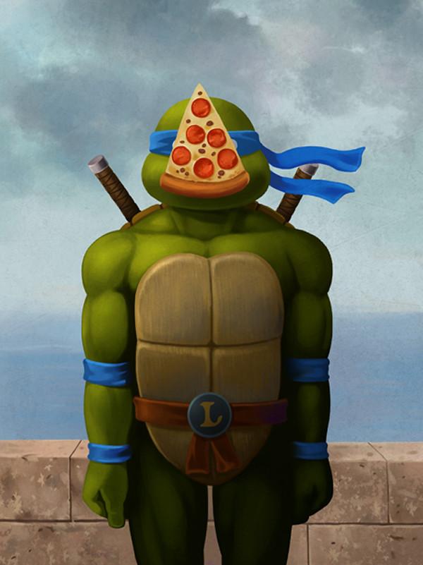 Magritte Teenage Mutant Ninja Turtles by Ben Chen