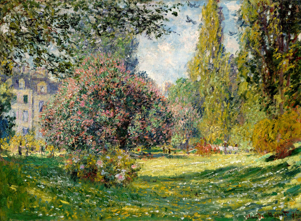 Park Monceau, Paris by Claude Monet, 1876