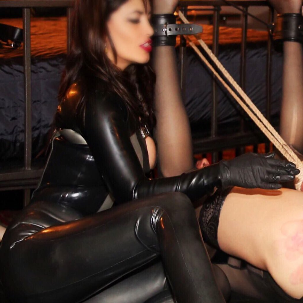 Femdom mistresses and their submissive male slave 7