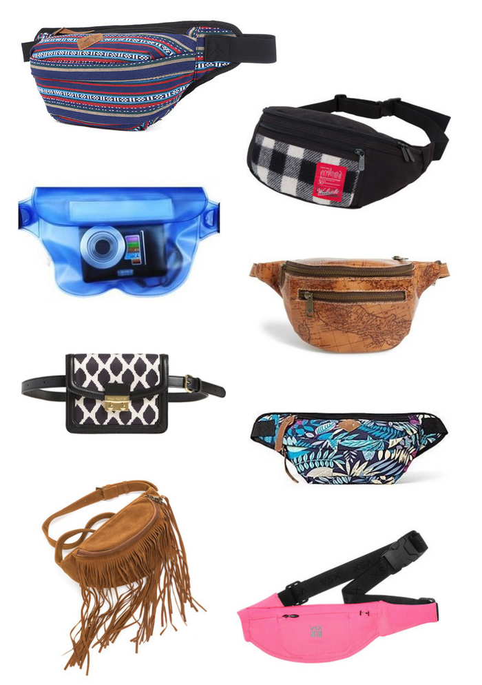 fanny packs, stylish fanny packs, bum bags, in style fanny packs, how to wear a fanny pack