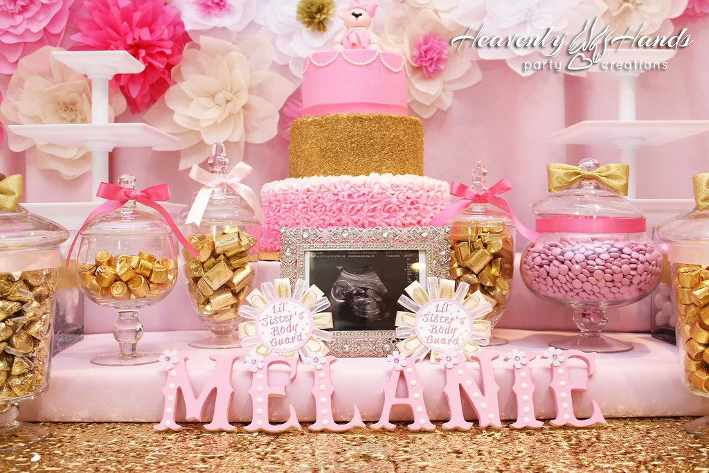 pink and gold baby shower - 1024×683