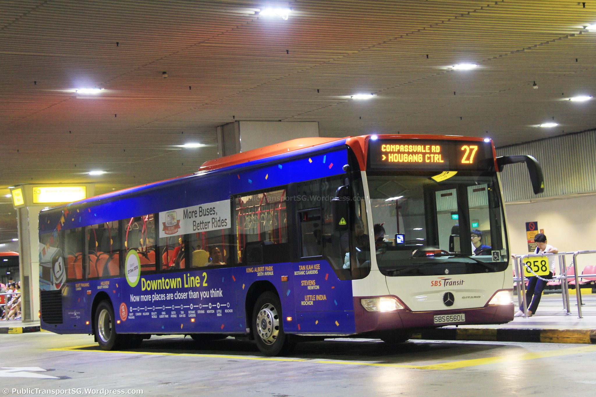 Sbs transit bus service 27 public transport sg for Mercedes benz downtown service