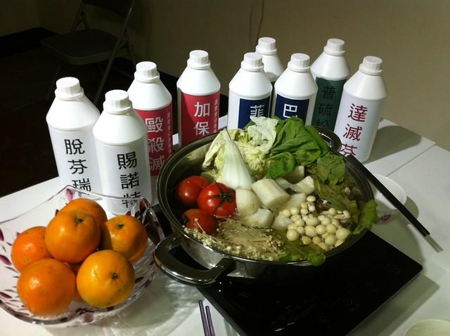 圍爐火鍋看得到的豐盛食物之外,不要也加入農藥!圖片來源:台灣綠色和平組織