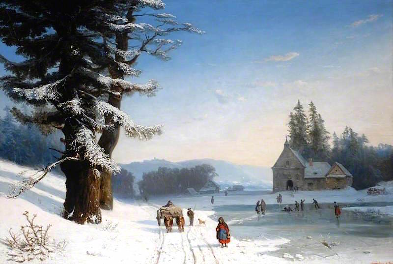 Snow Scene in the South of France by Joséphine Bowes, c.1867