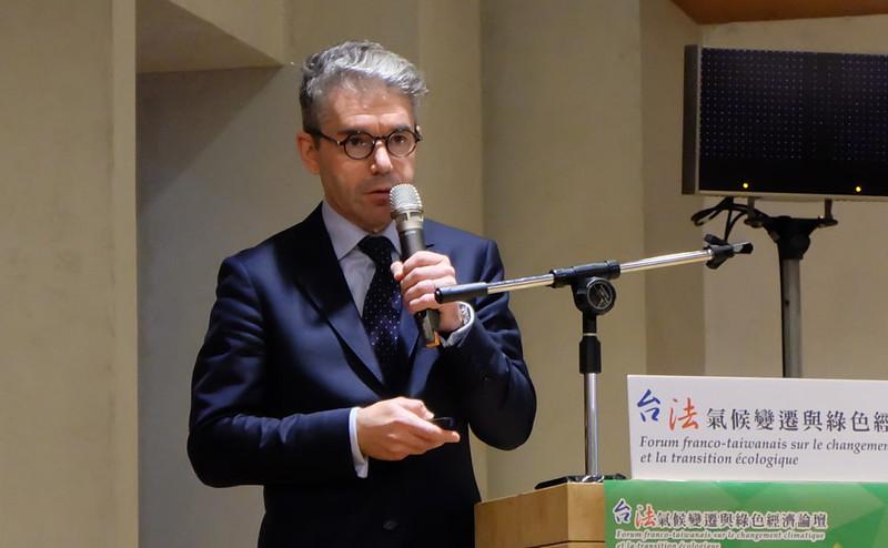 法國再生能源產業對外貿易召集人讓.巴朗德拉(Jean Ballandras)攝影:陳文姿。