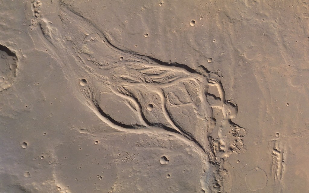 Outflow Channel on Mars