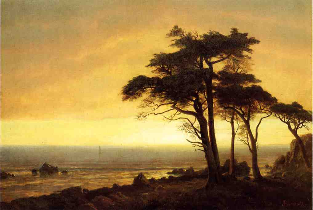 California Coast by Albert Bierstadt, (1830 - 1902)
