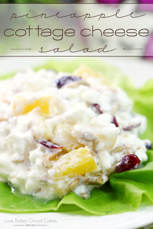 This Pineapple Cottage Cheese Salad is a healthy breakfast, lunch or snack idea! Easy and delicious! AD #purefreshShamrock