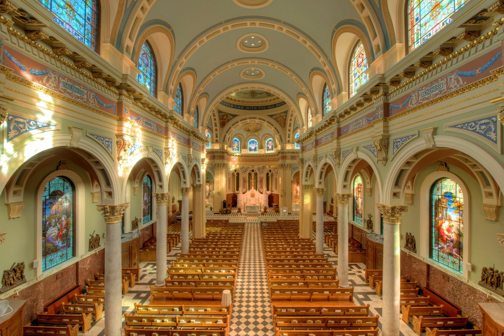 Nave, St. Patrick's Cathedral, Harrisburg Historic District. Credit Bestbudbrian