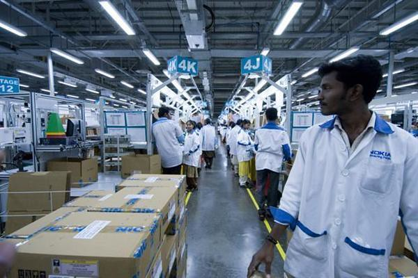 Foxconn closed last year in the international electronic business in India Nokia factory