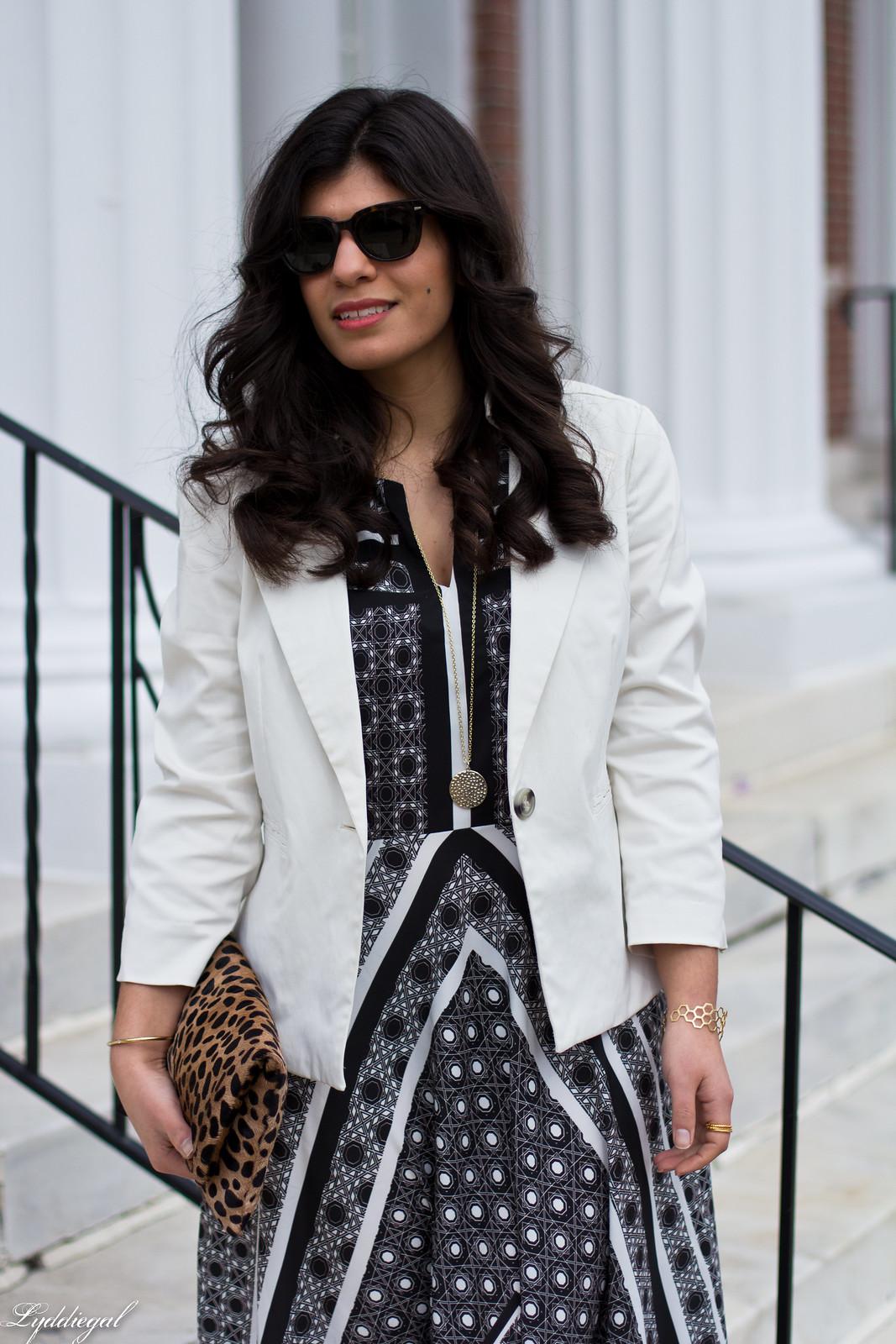 printed maxi dress, white blazer, leopard clutch-5.jpg