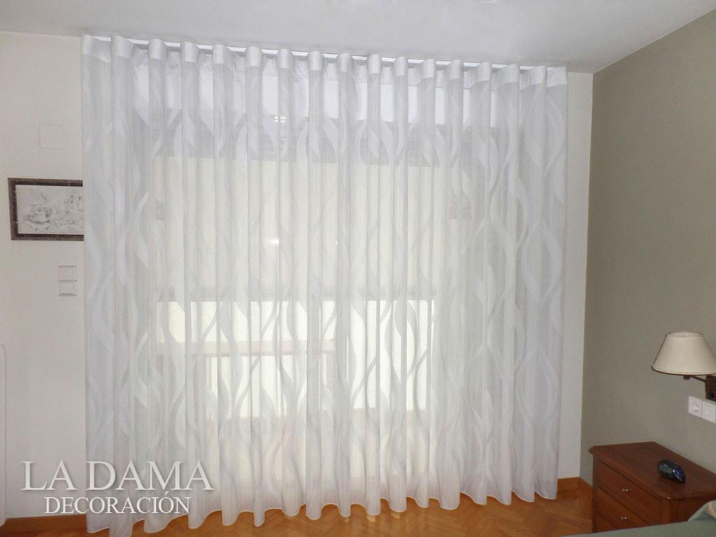 Cortina de onda perfecta con riel compra cortinas en - Cortinas con riel ...